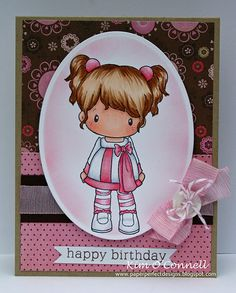 Designs Party Time Lucy - image will be released on the All That Scraps online store on 12 Copic Drawings, Birthday Cards For Boys, Copic Sketch Markers, Scrapbook Cards, Scrapbooking, Tampons, Copics, Cool Cards, Kids Cards