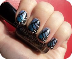 By Jessica Dowling. Butterfly wing nail art