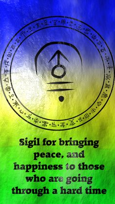 Sigil for bringing peace and happiness to those who are going through a hard time requested by anonymous Wiccan Symbols, Magic Symbols, Spiritual Symbols, Symbols And Meanings, Viking Symbols, Egyptian Symbols, Viking Runes, Ancient Symbols, Wiccan Spell Book