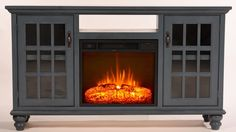 Blackwell Modern Country TV Stand with Electric Fireplace