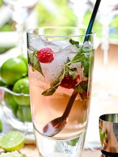Raspberry Basil Mojito recipe by A Spicy Perspective