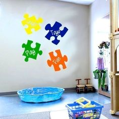 Puzzle Piece Wall Decor crayola crayons toddler 3 piece sheet set. need this for branson's