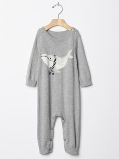 Winter whale sweater one-piece. | Gap