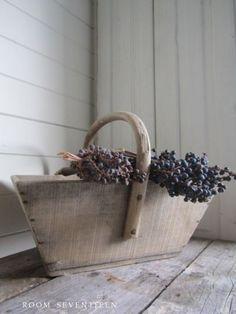 Wood garden basket - Room Seventeen