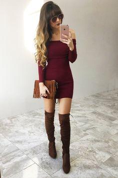 Different Worlds Dress: Crimson