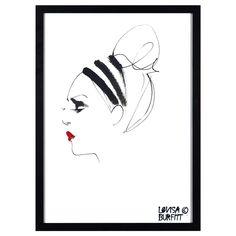 Lipstick Feu Rouge poster – Lovisa Burfitt – Köp online på Rum21.se