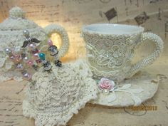 altered teapots to pincushions - Google Search