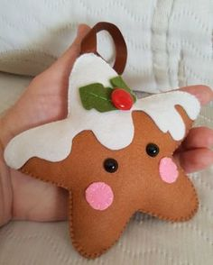 PDF Pattern Sugar Cookie Star Christmas Ornament Pattern