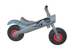 Pipe bike by Bruno Gavira, a kid's balance bike made from 100# standard PVC drain pipes.