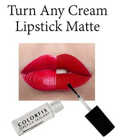 The most amazing lipstick product! This will turn any lipstick matte and keep it on your lips all day.