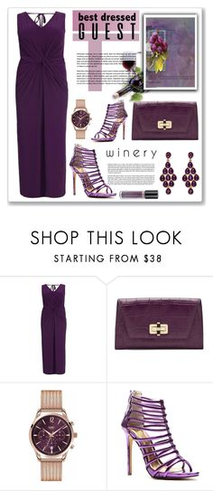 """""""elegance purple"""" by nanawidia ❤ liked on Polyvore featuring Diane Von Furstenberg, Henry London and Palm Beach Jewelry"""