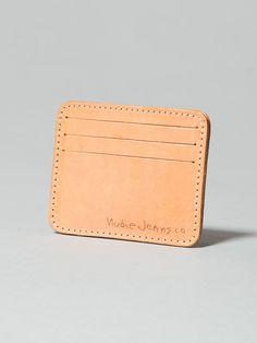 Jonte Card Holder Leather Natural - Nudie Jeans Online Shop