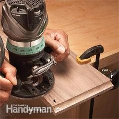 Modern router bits with carbide cutters and guide bearings make forming wood edges almost foolproof. Try this router edge guide for tips. Woodworking Saws, Antique Woodworking Tools, Learn Woodworking, Woodworking Techniques, Woodworking Projects, Antique Tools, Carpentry, Unique Woodworking, Woodworking Furniture