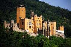 Stolzenfels Castle above Kapellen, on the Rhine between Cologne and  Rudesheim, Germany