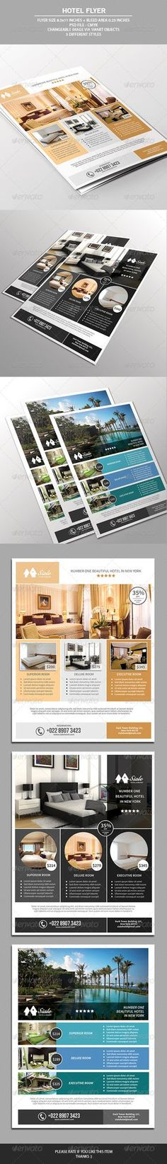 Hotel Metro Trifold Brochure  Brochures Brochure Template And