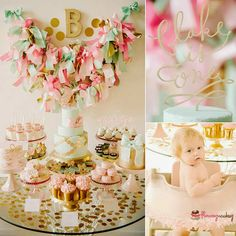 A bow-filled first birthday party | 10 1st Birthday Party Ideas for Girls Part 2 - Tinyme Blog