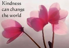 """""""Kindness can change the world."""" via The Beauty of Thinking Positive at www.facebook.com/TheBeautyofThinkingPositve"""