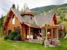 log cabin style homes bestofhouse cottage popular home styles Cabin Style Homes, Log Cabin Homes, Log Cabins, Log Cabin Living, Log Home Decorating, Cabin In The Woods, Timber House, Wooden House, Cabins And Cottages