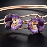 Victorian Enamel and Diamond Pansy Bracelets...so pretty