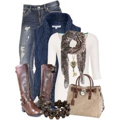 Navy, Brown & Animal Print, created by chells-style on Polyvore