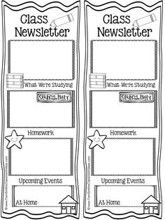 Classroom Newsletter Templates. This would be a great