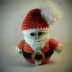 amigurumi crochet stuffed Santa Claus Christmas tree ornament decoration doll by WiseFriday on Etsy