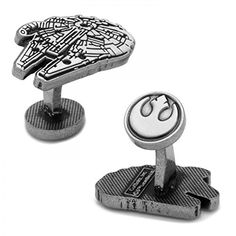 The Star Wars: Millenium Falcon Cufflinks are officially licensed, and are the perfect accessory for any wardrobe. Whether you're a Star Wars Super fan or just looking to geek out, you'll love these cufflinks. Star Citizen, Millennium Falcon, Star Wars, Antique Plates, Iconic Movies, Mens Gift Sets, Baby Shop, Silver Plate, Swarovski Crystals