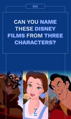 Can You Name These Disney Films from Three Characters?