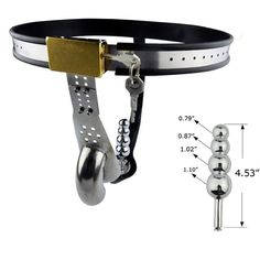 97.00$  Buy now - http://ali5a5.worldwells.pw/go.php?t=32595428290 - High quality stainless steel male chastity device T type chastity belt pants with anal beads plug cock cage adult sex products