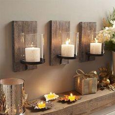 iluminacion rustica con velas