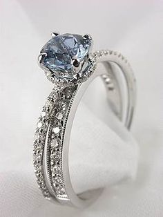 Aquamarine Engagement Ring by Mark Silverstein