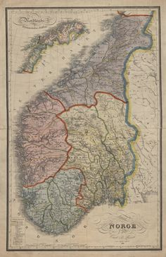 1829 map of Norway