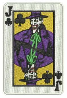 "4"" Joker Gang Goon Playing Card Patch - THUG Batman 1989 Movie TV ArKham asylum Trick Anarchy Hooligan 1%"