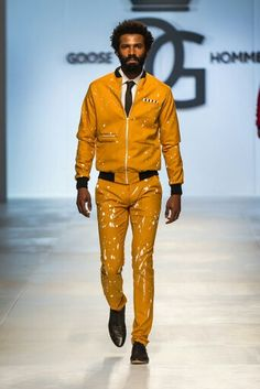 Goose Homme Prorsum look 9 at Mercedes Benz Cape Town Fashion Week SS15
