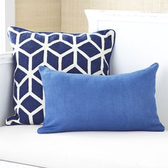 Linen Pillow Cover – Indigo Kidney