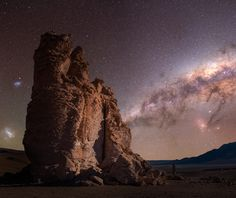 Theres something about stargazing up at 16000 feet with the rock formations of Salar De Tara in the Atacama Desert Chile [OC] [24362048] #reddit
