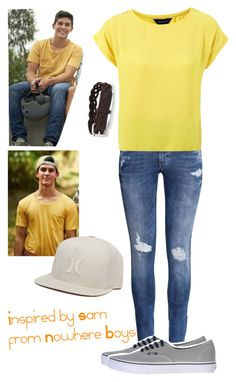 """Inspired by Sam from Nowhere Boys"" by crazydirectionergirl ❤ liked on Polyvore featuring H&M, Topman, Vans and Hurley"