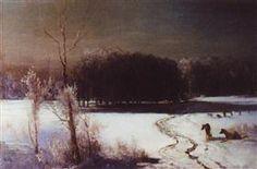 Landscape with wolves - Aleksey Savrasov