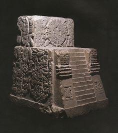 Aztec Temple Stone (Monument of Sacred War, 1507 AD) Motecuhzoma II throne,Museo Nacional de Antropología, Mexico City.