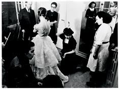 Fitting session in the presence of Monsieur Dior, Fashion Images, Fashion Pictures, Fashion Photo, 1940s Fashion, French Fashion, Vintage Fashion, Vintage Dior, Vintage Gowns, Christian Dior Gowns