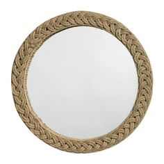 Love this braided jute mirror, and the subtle hint of nautical, via the Inspired Room event at Joss and Main! Rope Mirror, Eclectic Design, Rope Braid, Jute, Braids, Wall Decor, Solana Beach, Furniture, Home Decor