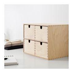 IKEA - MOPPE, Mini-Kommode, 31x18x32 cm, , Unbehandeltes Holz; kann geölt oder…