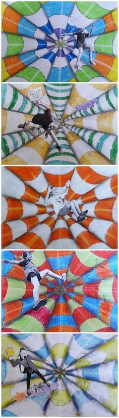 Op art for kids Club D'art, Art Club, Middle School Art Projects, Art School, School Fun, Illusion Kunst, Illusion Art, 8th Grade Art, Ecole Art