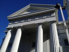 Fluted columns inspired by Ancient Roman Architecture.