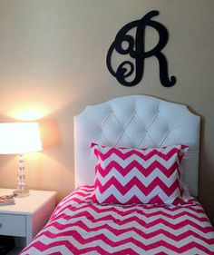 Twin Sized Upholstered Headboard Grey And White Chevron Home Denver Condo Decorating Ideas Pinterest Twins Room Aqua Bedrooms