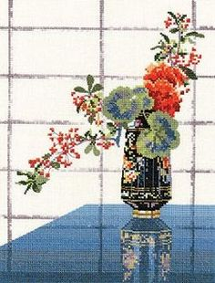 Oriental Vase Cross Stitch Kit **SALE**