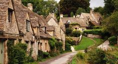 """Bibury, England - described by 19th-century artist-writer William Morris as """"the most beautiful village in England."""""""