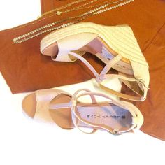 Nude Wedges Perfect for summer/beach, nude greyish color! Can be paired with almost anything! New without box or tags, only tried on at home a few times, if you have any questions please don't hesitate ✌️ Lucky Brand Shoes