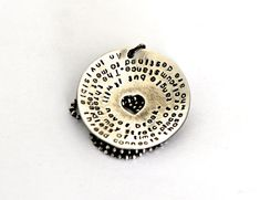 Quote Jewelry, Inspiration Quote, Inspiration Necklace, Gift For Best Friend, Australian Hand Stamped, Hand Stamped Quote  I love a statement quote on a piece of jewellery. This one is a beautiful quote An invisible thread connects those who are destined to meet regardless of time, place or circumstance. The thread my stretch or tangle but it will never break. Its very touching and would make a lovely gift for someone special who needs some inspiration. This thick sterling silver disc is…