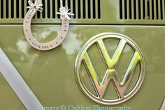 Clara's VW badge and my Dad's lucky horseshoe :-)